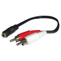 Audio 2RCA M/ Plug 3.5mm H