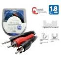 cable audio stereo  plug 3.5mm a 2 Plug RCA Microlab